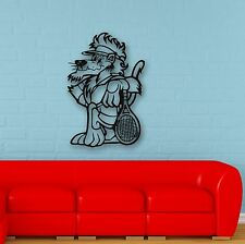 Wall Stickers Vinyl Decal Funny Animal Lion Tennis Children's Room (ig611)