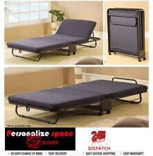Folding Bed with Adjustable Headrest Thick Mattress with Steel Belt and Eva