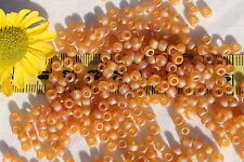 6/0 Toho Seed Beads 117-Trans Rainbow Frosted Dark Topaz /28 grams # 162CF