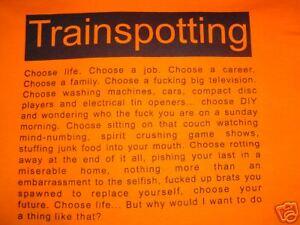 CHOOSE LIFE TRAINSPOTTING T-SHIRT SIZE XL