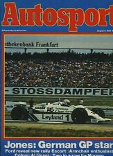 Autosport 6th 1981 de agosto * Alemán Grand Prix & británico F 3 *
