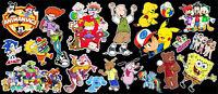 90's Morning Cartoons Tribute Vinyl Sticker Bundle