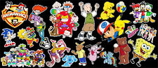 90's Morning Cartoons Tribute Vinyl Sticker Bundle