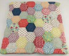 """Garnet Hill Quilted Pillow Cover Sham Calico Floral Farm Country Shabby 22"""" Zip"""