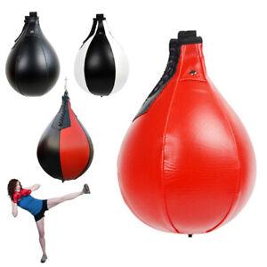 Leder Boxen Ball Boxbirne Speedball Punchingball Hängender Geschwindigkeitsball