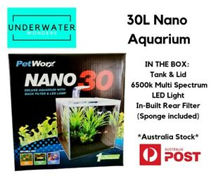 Petworx Nano 30 Aquarium 30L Shrimp goldfish tropical betta Free Thermometer