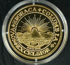 2009 COLUMBIA EXCELSIOR AMERICAN MINT - Commemorative Coin - CAMEO GOLD PLATED