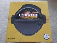 Crock-Pot Express 6-Quart Easy Release Multi-Cooker, Stainless Steel - Brand new