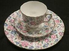 Vnt Crown Staffordshire English Fine Bone China Springtime Cup, Saucer, Plate