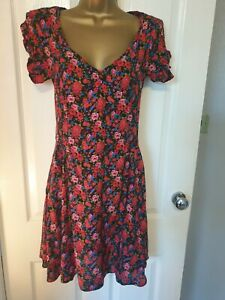 ATMOSPHERE fit & flare dress size 8 red floral