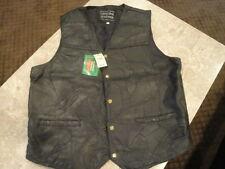Leather Vest Mens Size XL