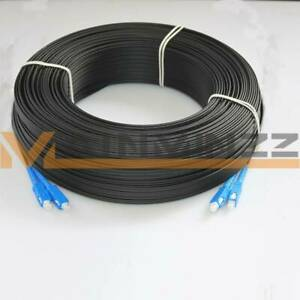 400M Fiber Optic Cable Jumper Outdoor SC SM Duplex FTTH Drop Patch Cord SC G657