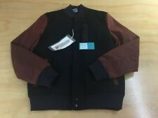 NIKE SPORTSWEAR NSW BRITISH MILLERAIN CO.DESTROYER VARSITY JACKET M BLACK BROWN
