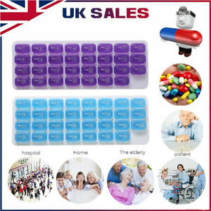 31 Grids Pill Box Case One Month Pill Medicine Tablet Container Organizer Holder
