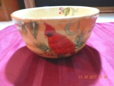 Maxcera - Honey Cardinal bowl 3 x 5  - Holiday Winter Themed -  NICE!!