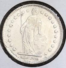 Switzerland 1964 B 1 Franc Silver High Grade Very Nice Condition LJ