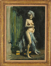 Burton Burt Silverman (American b.1928) Original Nude Oil Painting Signed