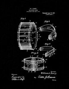 Collapsible Drum Patent Print Black
