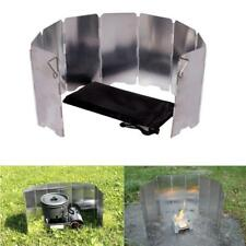 9 Plates Foldable Cooker Stove Wind Shield Screens Outdoor Camping Cook Picnic