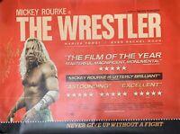 MICKEY ROURKE ~ Original Genuine Signed THE WRESTLER poster ~ AFTAL REG'D DEALER