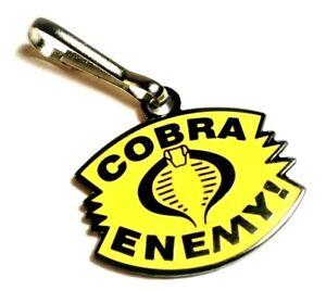 Cobra Enemy GI Joe G.I. Cartoon Jacket Backpack Purse Bag Zipper Pull Clip