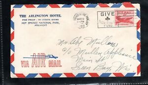 1952 Sc #C39 6¢ Air Mail stamp - Ad Mail - Give Red Cross slogan cancel