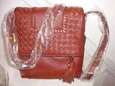 ~*NWT Designer Isabella Fiore Reno Crossbody Brandy Leather Bag