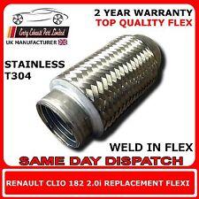 Renault Clio 2.0i 182 2004-06 Weld en Remplacement Réparation Section Flexible