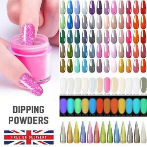 80 COLOURS ACRYLIC NAIL DIPPING POWDER 5 or 10 gram POT Clear Pink Dust DIP UK