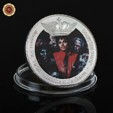 WR Michael Jackson Thriller Colored Silver Coin Pop & Rock Superstar Music Gifts
