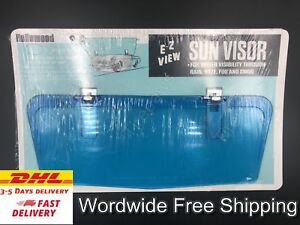 Vtg Style Clip-On Blue Sun visor For: Ford Mustang T.Bird galaxie falcon cougar