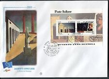 ITALY 2000 MILLENNIUM-ART/SCIENCE/PAINTING by DE CHIRICO s/sheet FDC
