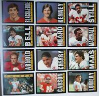 1985 Topps Kansas City Chiefs Team Set of 12 Football Cards