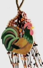 Pip Berry Swag wood rooster chicken country kitchen floral berries decor Sign