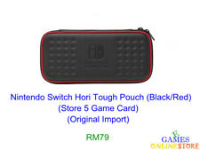 Nintendo Switch Hori Tough Pouch (Black/Red) ★Brand New & Sealed★