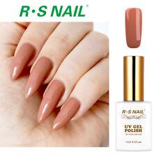 RS Nail Gel Nail Polish UV LED Varnish Soak Off Milk Tea Colour Brown 0.5fl.oze