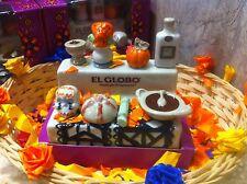 MEXICAN FOLK ART DAY OF THE DEAD SHRINE box ofrenda altar Mexico dia de muertos