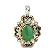 Carolyn Pollack Sterling Silver Green Turquoise Pendant Enhancer