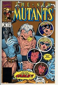 New Mutants #87 FN Marvel (1990) -2nd Print -1st Full Appearance Of Cable