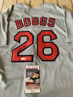 Wade Boggs Autographed/Signed Jersey JSA COA Boston Red Sox