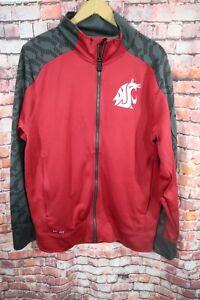 Nike Washington State Cougars Track Jacket Dri Fit Mens M