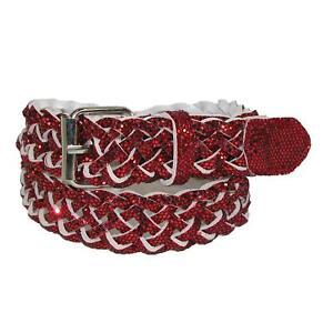New CTM Girls' Metallic Braided Belt