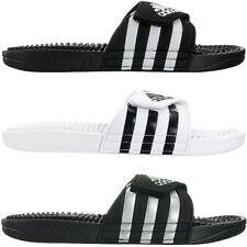 Adidas Adissage Herren Badesandalen schwarz weiß silber Badelatschen Sauna NEU