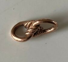 VERY RARE UNUSUAL Beautiful Ornate Antique 9ct Gold Love knot Double Link