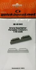 Quickboost 1/48  Bristol Beaufighter Porcupine Exhausts I for Tamiya kits #48043