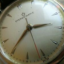 Cat Ear Lug Vintage All S/S 1960's Eterna Eterna-matic Automatic Swiss Watch