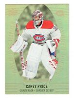 2019-20 Tim Hortons UD Carey Price Gold Etchings GE-3 Hockey Card