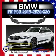 Fits For 2019-2020 BMW 3 Series G20 M Sport Gloss Black Front Bumper Lip Spoiler