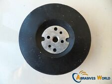 "Rubber Backing Pad for 4"" (100mm) Angle Grinder, For Fibre Sanding All Metals"