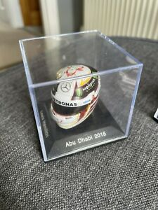 Spark 1/8 Scale Lewis Hamilton Mercedes Petronas 2015 Helmet Abu Dhabi - 1